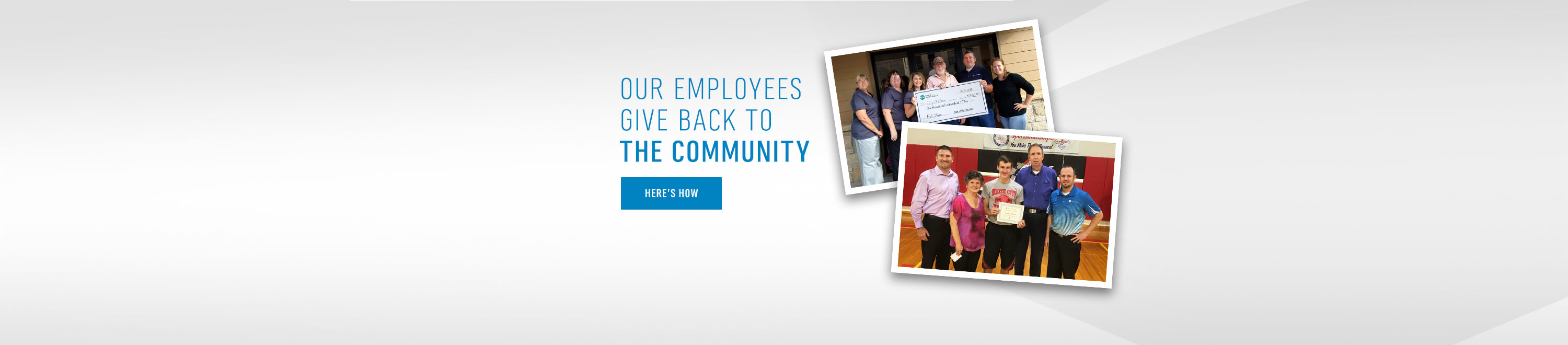 Our Employees Give Back to the Community